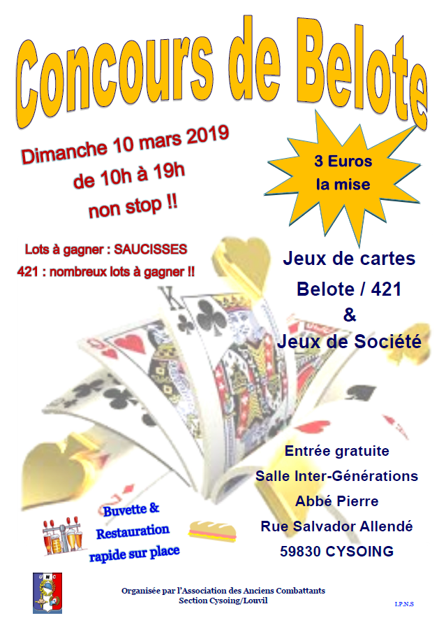 concours Belote 421